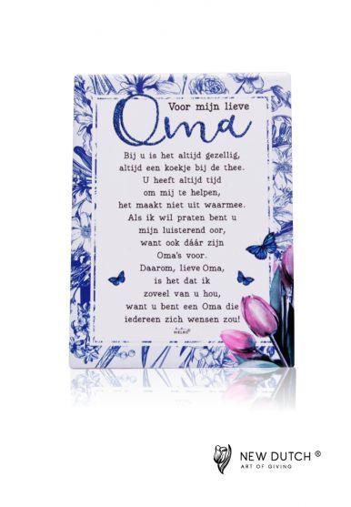 Zijn gedicht oma Oma worden