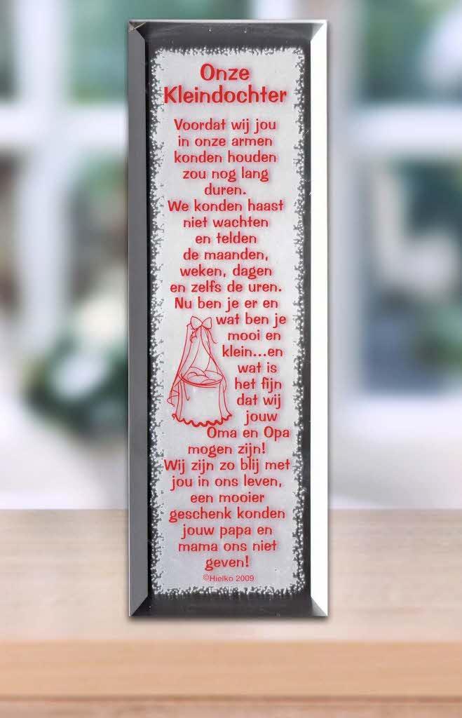Gedicht Spiegel Onze Kleindochter