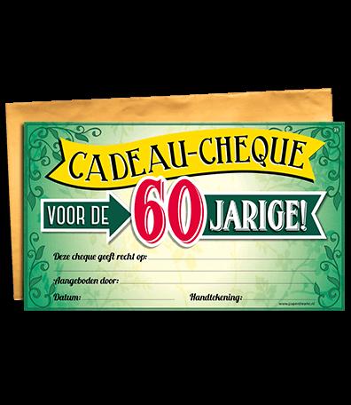 Gift Cheque 21 60 Jaar