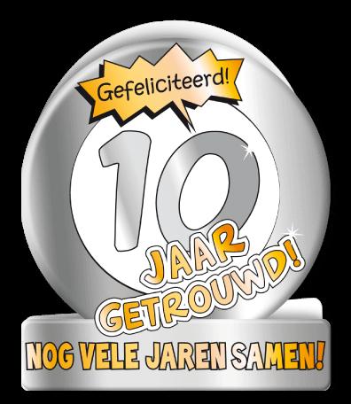Verjaardag Wenskaart Cartoon 10 Jaar Getrouwd