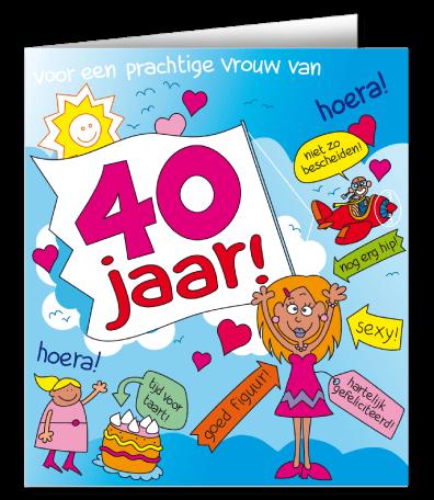 Verbazingwekkend Cadeau 40 jaar verras de jarige met een wenskaart cartoon 40 jaar ZJ-04