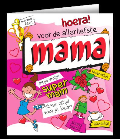 Verjaardag Wenskaart Cartoon Mama