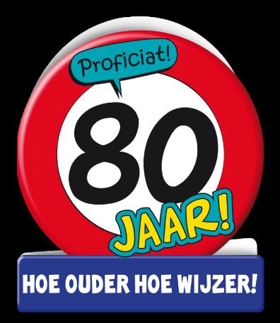 Verjaardag Wenskaart Verkeersbord 80 Jaar