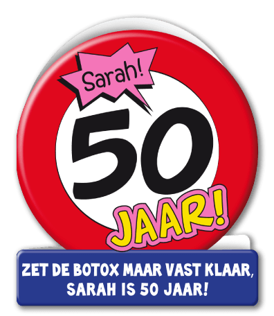 Verjaardag Wenskaart Verkeersbord Sarah
