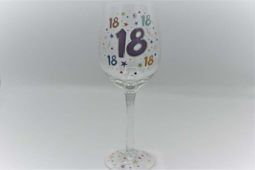 Wijnglas Sterren 18 Jaar