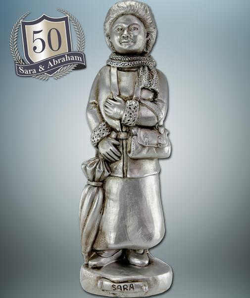 Magnifiek Cadeau 50 jaar vrouw mooi beeldje van Sarah beeld zilver @MD85