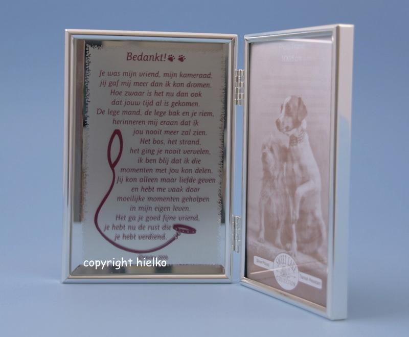In Memoriam Gedicht Spiegel Bedankt Hond Uitklapbaar