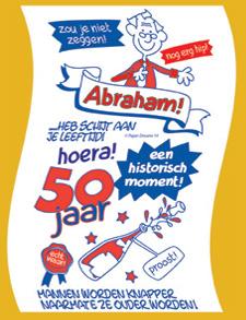 Wonderbaarlijk Cadeau 50 jaar man Toiletrol nieuw 50 jaar Abraham | Mary's Kadoshop YR-21