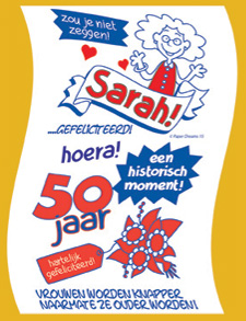 leuke spreuken sarah 50 jaar Cadeau 50 jaar Sara zij ziet Sara leuke en grappige en originele  leuke spreuken sarah 50 jaar